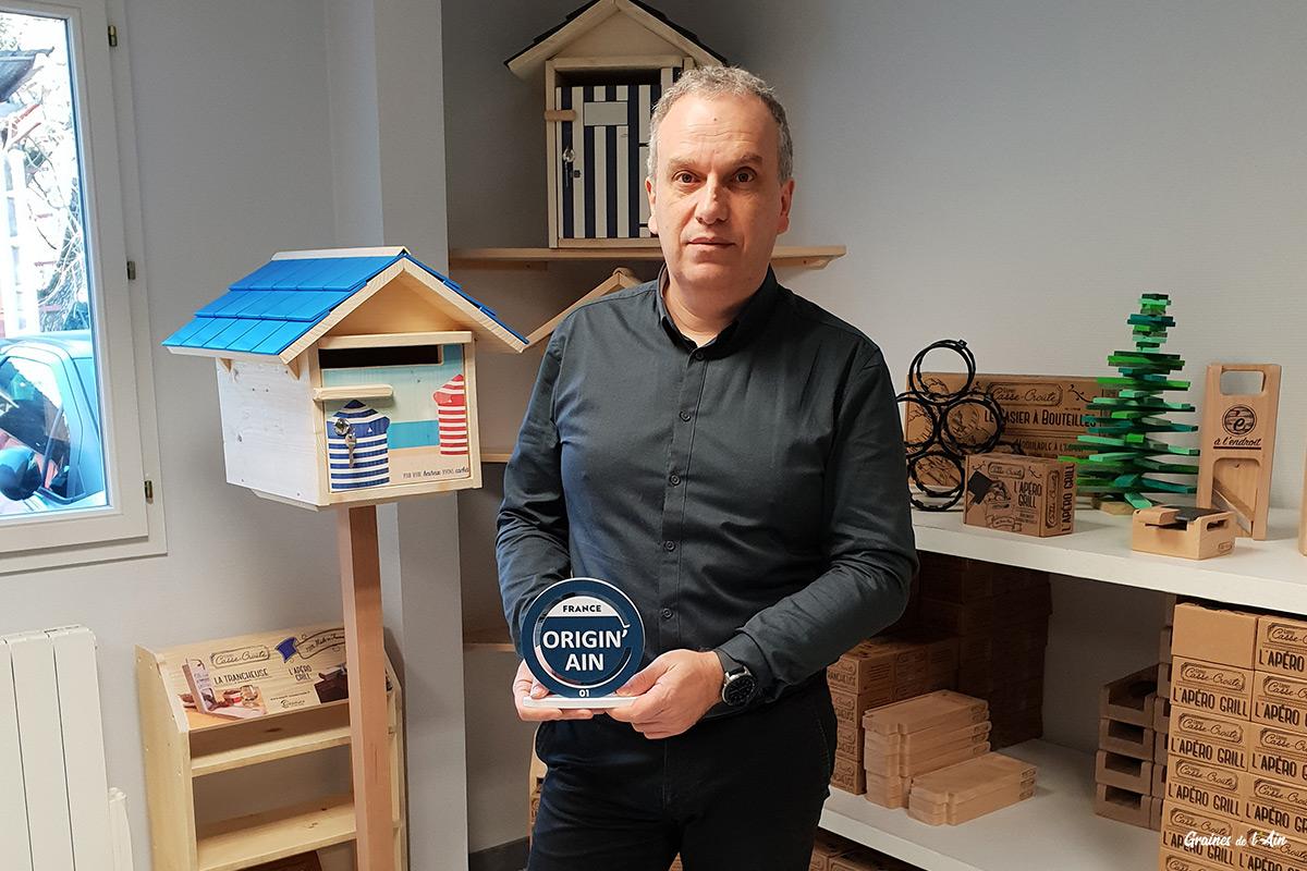 label des entreprises de l'ain 100% local - Hervé Guerry Créastuce Maillat
