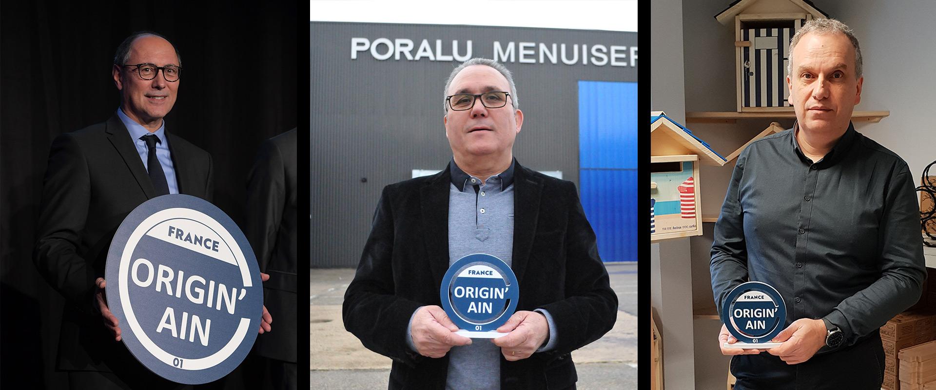 label des entreprises de l'ain 100% local - Manuel Inigo Poralu menuiseries - Hervé Guerry Creastuce Maillat