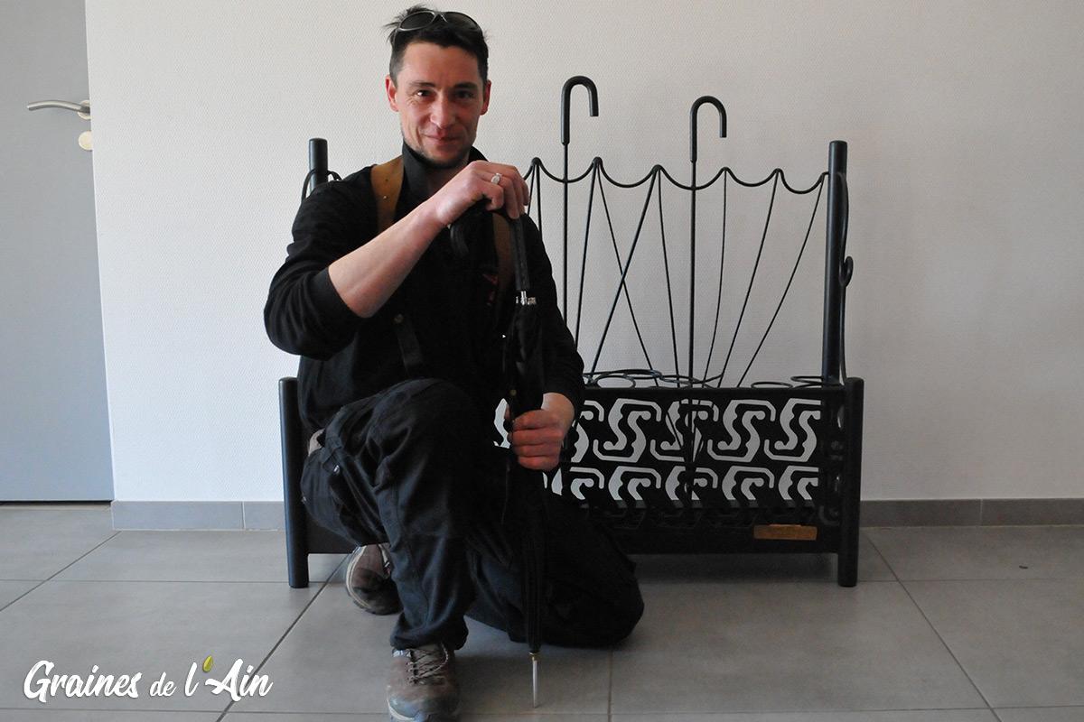Savoir Fer Plaisir - Amaury Garcia - Maître artisan Ferronnier - Groissiat - magazine Graines de l' Ain