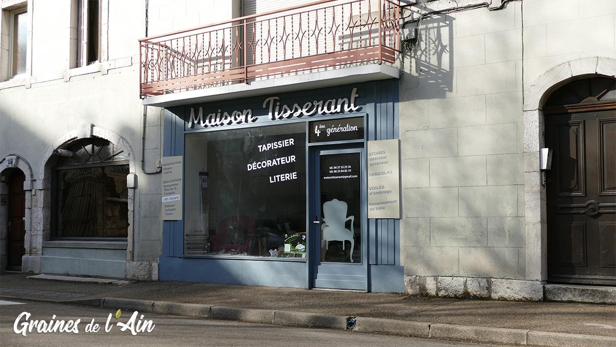 Maison Tisserant à Nantua - tapissier décorateur - magazine Graines de l' Ain