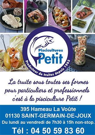 pisciculture Petit à St Germain de Joux