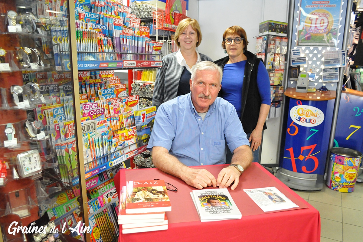 Gérard Chauvette écrivain humoriste à Oyonnax - Magazine Graines de l' Ain