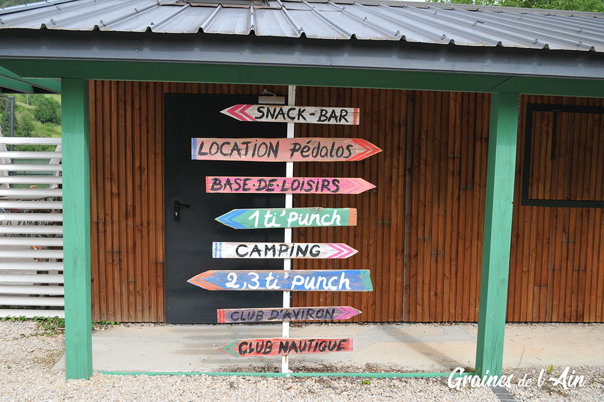Ile Chambod - base de loisirs à Hautecourt-Romanèche - Magazine Graines de l' Ain