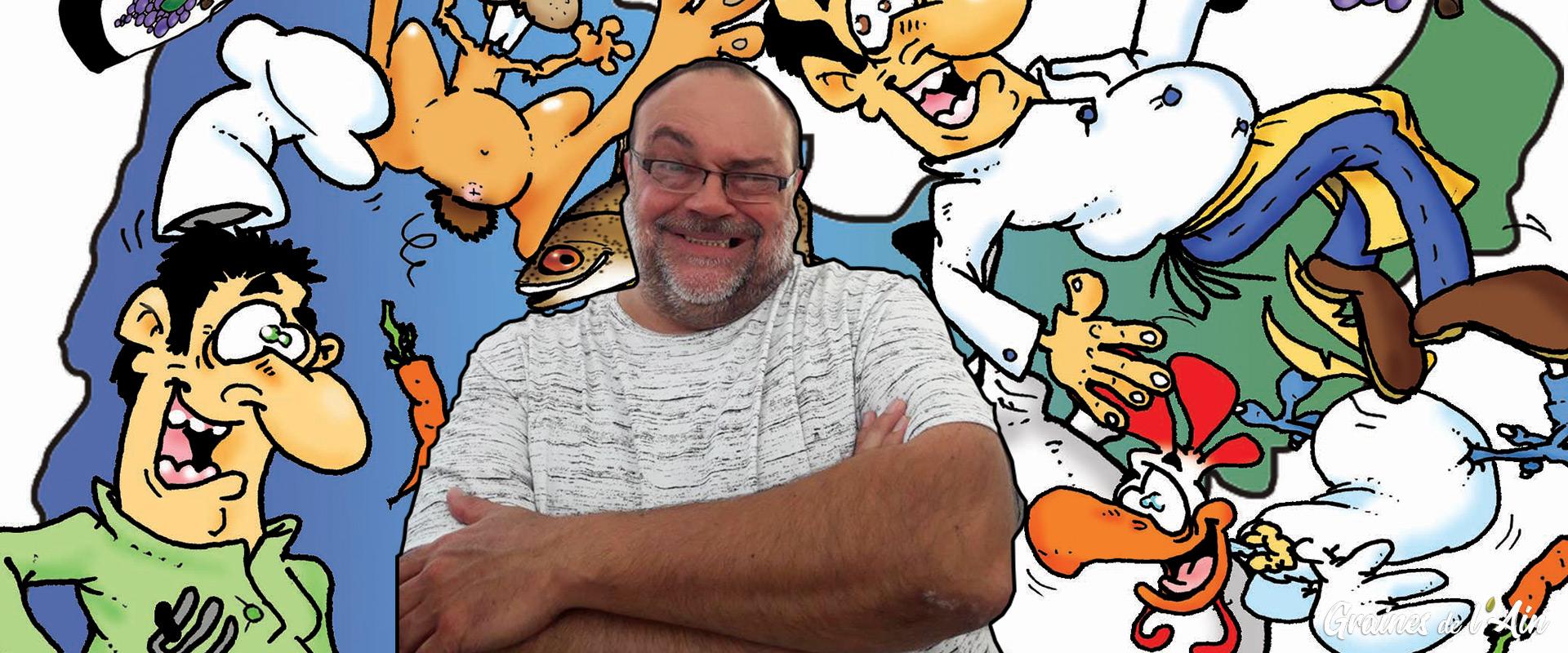 Pascal Mouscaz dessinateur - Magazine Graines de l' Ain