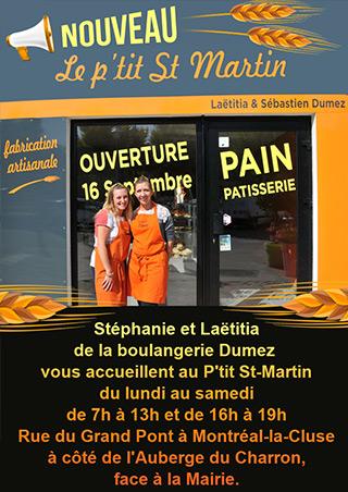 Le P'tit Saint Martin à Montréal-la-Cluse