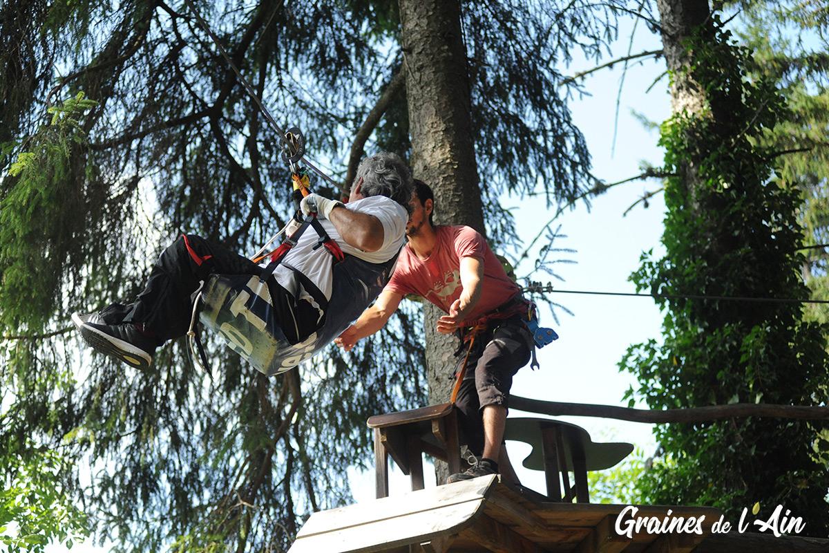 Handi-branche parcours aventure du Bugey à Hauteville-Lompnes - Magazine Graines de l' Ain