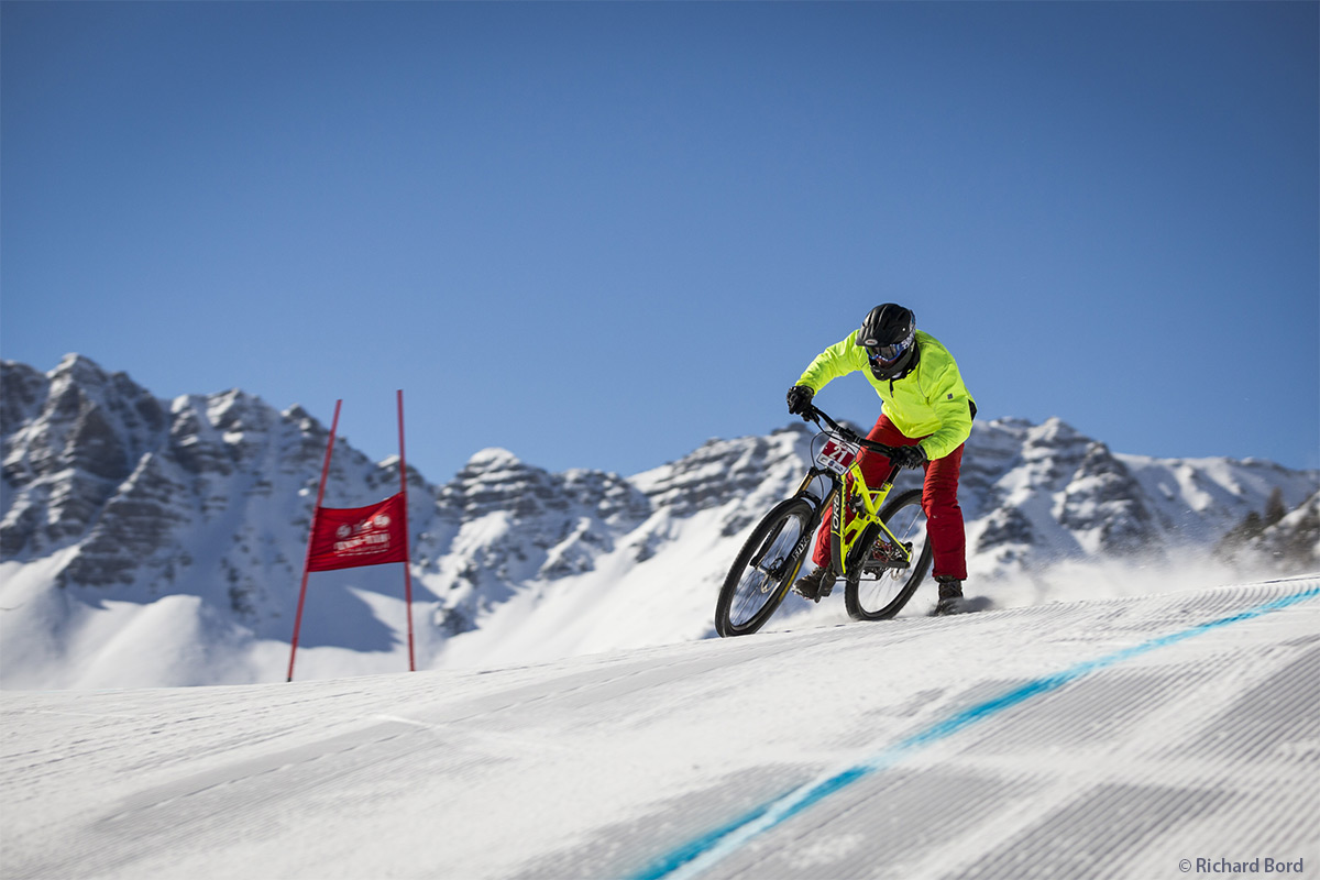Eric Barone - Alpine Snow Bike - Magazine Graines de l' Ain